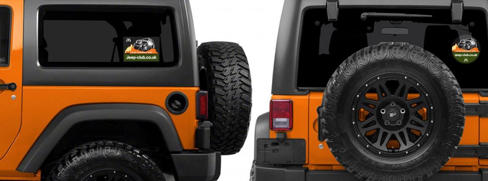 Our advertising expertise with Jeep Stickers that appear on the side of the JK Jeep