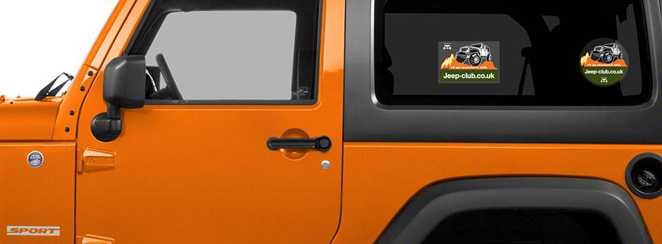 advertising expertise Jeep Stickers on Orange JK