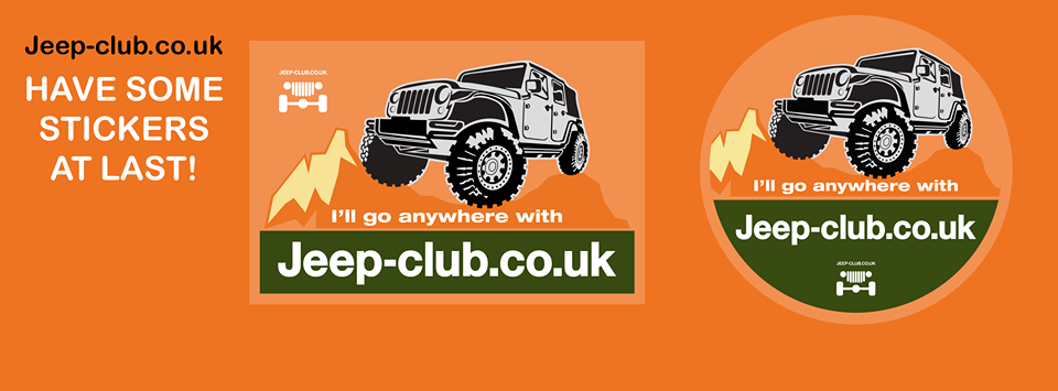 advertising expertise Jeep Stickers with orange