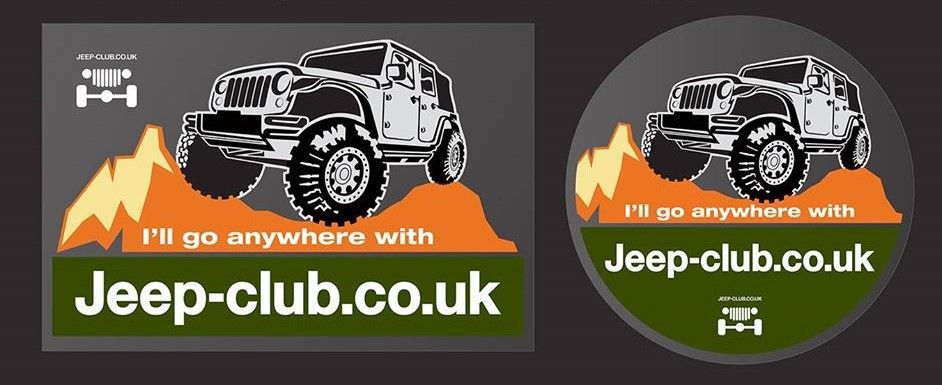 advertising expertise Jeep Stickers with grey