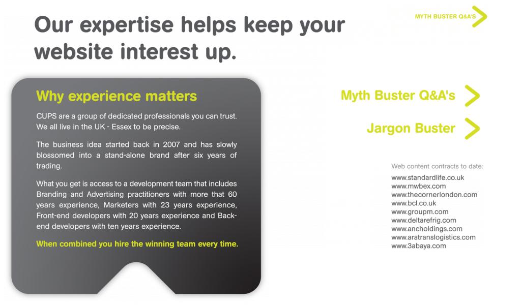experienced agency